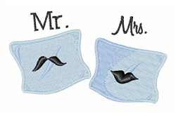 Mr Mrs embroidery design
