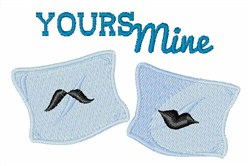 Yours Mine embroidery design