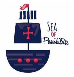 Sea Of Possibilities embroidery design
