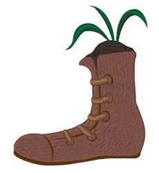 Boot Planter embroidery design