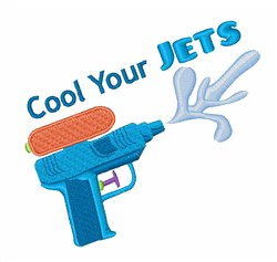 Cool Your Jets embroidery design