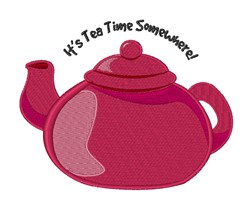 Its Tea Time embroidery design