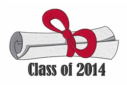 Class Of 2014 embroidery design