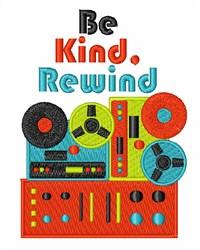 Be Kind Rewind embroidery design