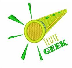 Flute Geek embroidery design