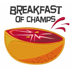 Breakfast Of Champs embroidery design