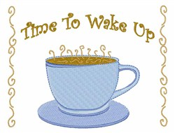 Time to Wake Up embroidery design