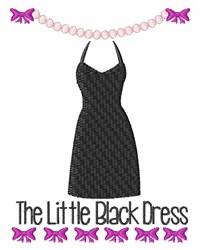 Little Black Dress embroidery design