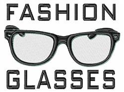 Fashion Glasses embroidery design