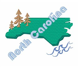North Carolina embroidery design