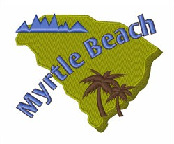 Myrtle Beach embroidery design