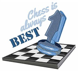 Chess Is Best embroidery design