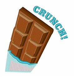 Crunch embroidery design