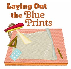 Blue Prints embroidery design