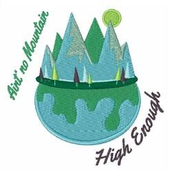 No Mountain embroidery design