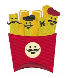 French Fry embroidery design