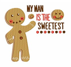 My Man Sweetest embroidery design