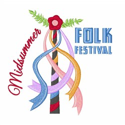 Folk Festival embroidery design