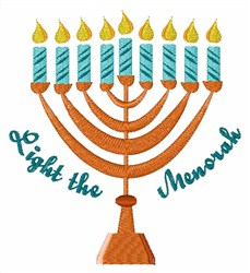 Light The Menorah embroidery design