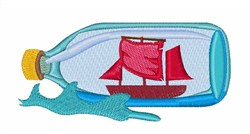 Shipi In Bottle embroidery design