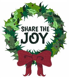 Share The Joy embroidery design