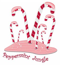 Peppermint Jungle embroidery design
