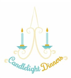 Candlelight Dinners embroidery design
