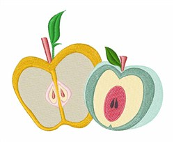 Sliced Apples embroidery design