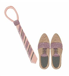 Tie & Shoes embroidery design