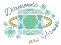 Diamonds Are Forever embroidery design
