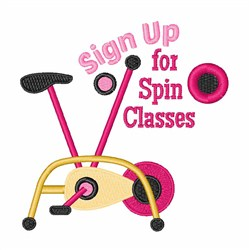 Spin Classes embroidery design