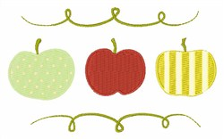 A Is For Apple embroidery design