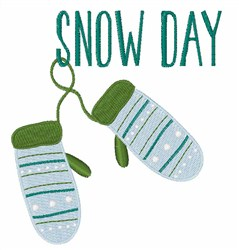 Snow Day Mittens embroidery design