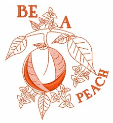 Be A Peach embroidery design