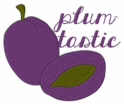 Plumtastic embroidery design
