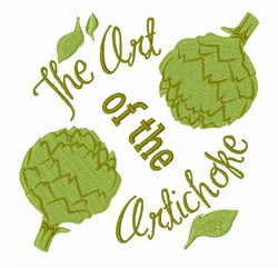 Art Of Artichoke embroidery design