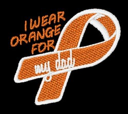 Support Prostate Cancer embroidery design