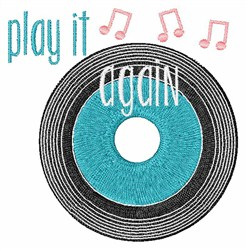 Play It Again embroidery design
