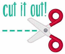 Cut It Out! embroidery design