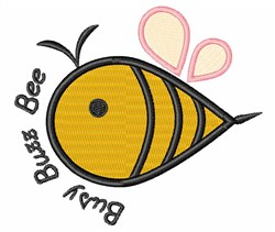 Busy Buzz Bee embroidery design