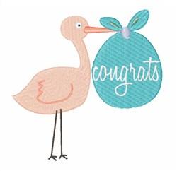 Congrats embroidery design