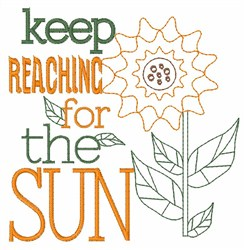 Reach For The Sun embroidery design