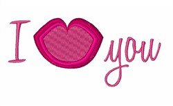 I Love You Lips embroidery design