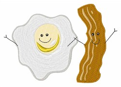 Bacon & Eggs embroidery design