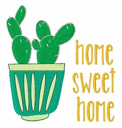 Home Sweet Home Cactus embroidery design