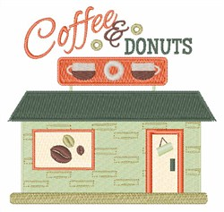Coffee & Donuts embroidery design