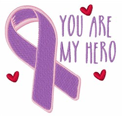 My Hero Cancer Ribbon embroidery design