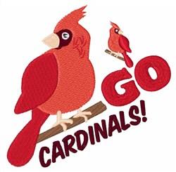 Go Cardinals! embroidery design