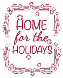 Home For The Holidays embroidery design