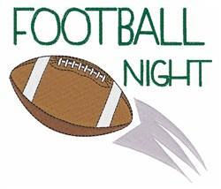 Football Night embroidery design